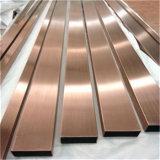 Taille faite sur commande matérielle chaude d'acier inoxydable de garniture en métal de vente de la Chine avec la couleur noire d'or