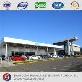 Mostra corridoio chiara prefabbricata dell'automobile della struttura d'acciaio