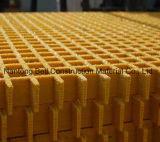 Стекловолоконные скрип панели, GRP/FRP решетку для мостик, Glassfiber платформы, литые решетки.