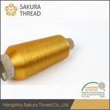 Filetto metallico del ricamo del rayon con la pellicola dell'animale domestico per lavorare a maglia