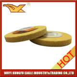 Non-Woven полируя колесо (100X12mm, 220#, желтый цвет)