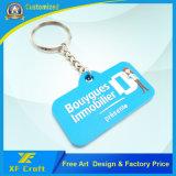 O logotipo personalizado de barata qualquer empresa 2D/3D titular de chave de borracha de PVC para promoção/Loja (XF-KC-P30)