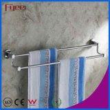 Barres d'essuie-main en laiton de double de longeron d'essuie-main de salle de bains solide de Fyeer
