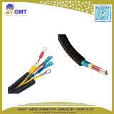 Línea plástica acanalada de la máquina de la protuberancia del tubo PE-PP-PVC del alambre de un sólo recinto del cable