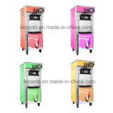 Crême glacée de machine de yaourt surgelé de 3 saveurs faisant la machine