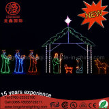 옥외 훈장을%s 방수 LED 크리스마스 출생 장면 밧줄 빛 주제