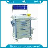 AG-At007b3 con el carro del hospital del almacenaje Material del ABS Carro de la anestesia