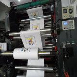 6つのカラー非編まれたファブリックロールFlexoの印字機