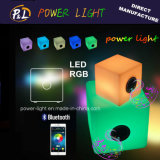 Bluetooth Control Music Playing Chair LED RGB Cube Lighting avec haut-parleur Bluetooth