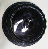 Prodotti naturali della preparazione 30 contenitori rotondi della preparazione del pasto con i coperchi a perfetta tenuta e l'insieme di plastica della coltelleria
