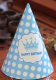 Chapéu colorido e tampão da festa de anos de papel