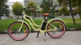 cruzador da praia da mulher do freio de disco de 36V 250W F/R, bicicleta elétrica barata feita em China