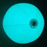 24 pollici sfera di spiaggia gonfiabile di TPU o di PVC con il LED all'interno