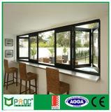 Norma australiana2047 doble acristalamiento de ventanas de aluminio plegable enmarcadas (pnocbfw00156)