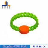 Divers bracelet imperméable à l'eau de silicones d'IDENTIFICATION RF de puces pour des piscines