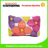 Flower Printed Nylon Portable Fashion Travel Cosmetic Bag pour femme
