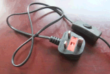 Шнур питания для кабелей с помощью переключателя патрон лампы UK разъем