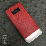 Tampa de couro do telefone do plutônio, caixa comum do telefone de pilha da forma do estilo para a nota 8 de Samsung