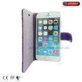 iPhone 7 caja de la PU bolsa del caso del tirón del teléfono billetera de cuero
