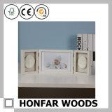 Marco de madera de la foto del bebé del collage para el regalo o la decoración