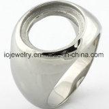 L'acciaio inossidabile parte la base in bianco dell'anello dei monili di DIY