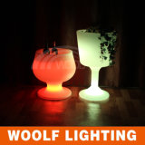 Color-Changing Remote LED Plástico Ice Bucket LED Lights
