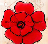 Colorida forma 3D de la flor de peluche almohada