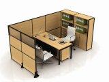 Partition en bois en verre en aluminium moderne de poste de travail/bureau de compartiment (NS-NW305)