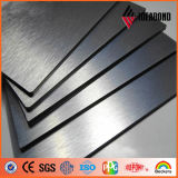 Los paneles de pared decorativos de aluminio del cepillo de plata (IDEABOND)