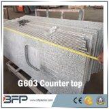Prix compétitif haut poli comptoir en granit gris pour la vente