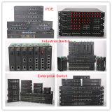 24 fibras viran el interruptor industrial de la red hacia el lado de babor de Ethernet con 4 SFP