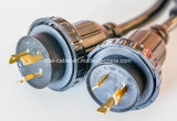 6/3+8/1 6 Fuß 50 Netzanschlusskabel Ampere-RV mit dem Torsion-Verschluss, der Verbinder sperrt