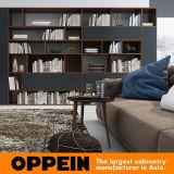 Oppeinの黒く、木製の穀物TVの立場かキャビネットの居間の家具(TV17-L02)