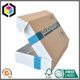 Rectángulo de envío acanalado de un sólo recinto azul del cartón de la impresión de color