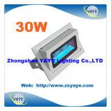 Yaye 18 Venta caliente Ce / RoHS luz de inundación de 30W LED / COB 30W LED proyector / 30W COB LED de iluminación de inundación con 3 años de W