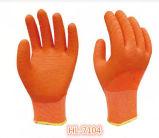 перчатка Crinkle волны латекса полиэфира 13G