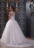 Weinlese-Schaufel-Stutzen-Sleeveless Fußboden-Längen-Ballkleid-Hochzeits-Kleid