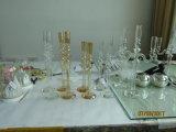 Золотистый цвет металлик стекло держатель при свечах с одним плакат