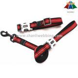 熱販売の反射ストリップが付いている良質の黒い及び赤20mmのスポーツ様式のポリエステルまたはナイロン鎖及び調節可能なカラー