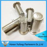 Noix principale plate de rivet d'acier inoxydable avec plafonné