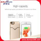 Teléfono móvil de la batería de litio de diamante de aluminio del caso del Banco Delgado energía para el iPhone 6