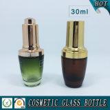 bottiglia di vetro cosmetica variopinta della lozione 30ml e bottiglia del contagoccia di vetro