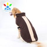 Conception de qualité hiver chaud Coral Fleece Windproof grands manteaux pour chiens