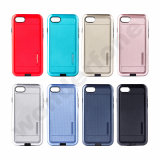 2 dans 1 TPU hybride et couvertures de cas de téléphone du pc pour l'iPhone 7