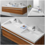 現代家具の固体表面の浴室用キャビネットの洗面器(B170911)