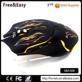 Desempenho de alta qualidade 6D acende o mouse de jogo