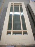 Porte en bois de pin (KD08C-G) (porte en bois solide)