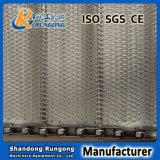 Courroie de convoyage à tissus conventionnels industriels / Ceinture à maille métallique à trous diamantés