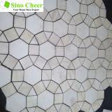 美しい花Waterjetデザイン大理石のモザイク・タイルパターン