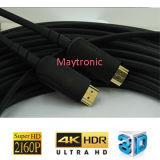 20 à 100m de haut qualité du HDMI 2.0 Câble à fibre optique